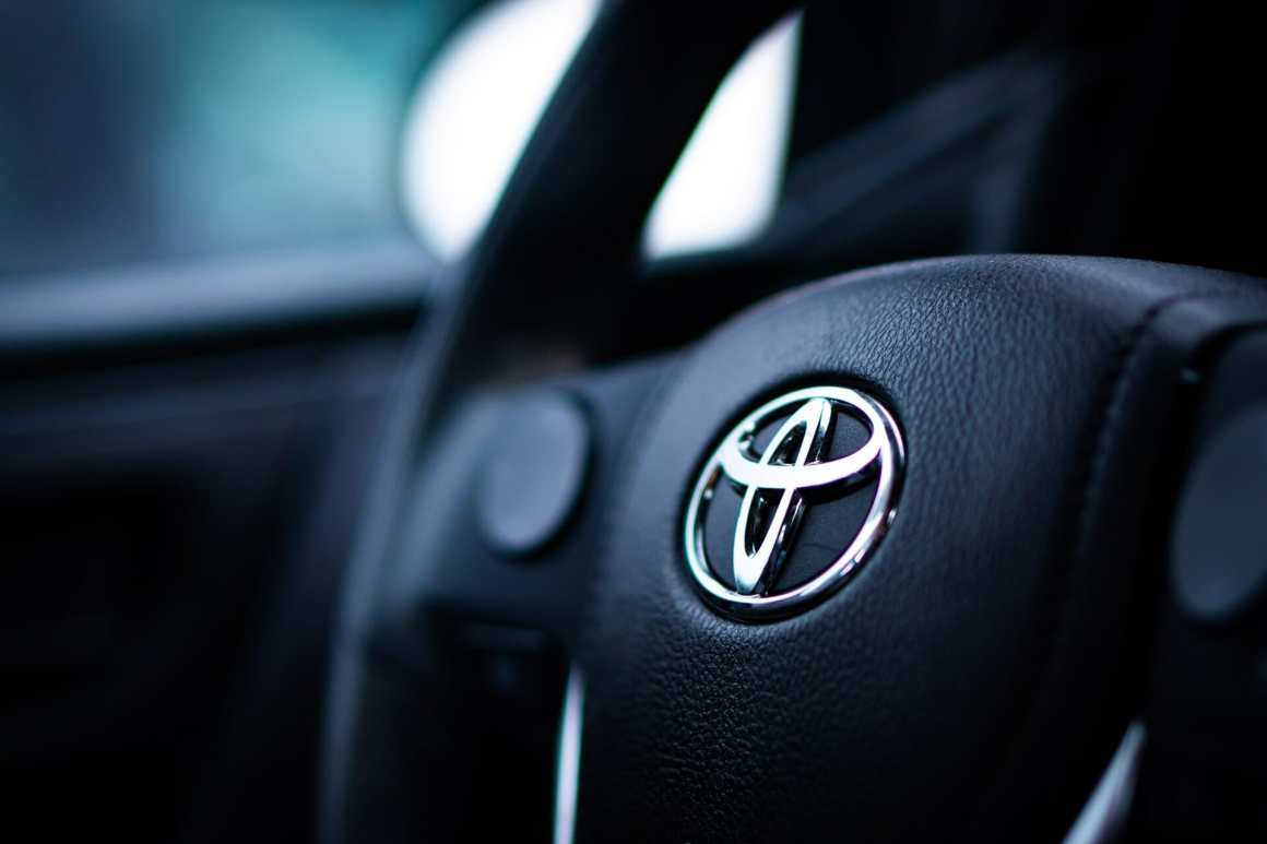 Remote work model Toyota car