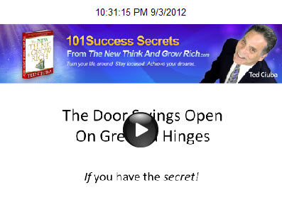 The Door Swings Open On Greased Hinges