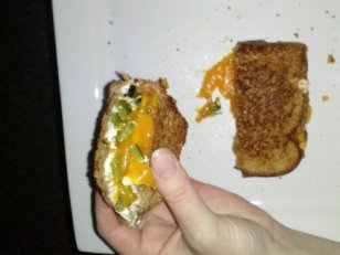jalepeño grilled cheese
