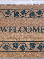 New welcome mat from my parents