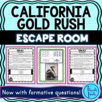 California Gold Rush Escape Room Picture