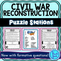 Civil War Reconstruction Puzzle Station Picture