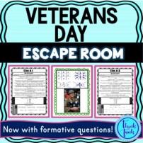Veterans Day Escape Room picture