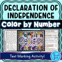 Declaration of Independence Reading Activity