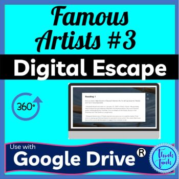 Famous Artist 3 Digital escape room cover