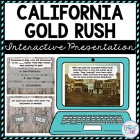 California Gold Rush Interactive Google Slides picture