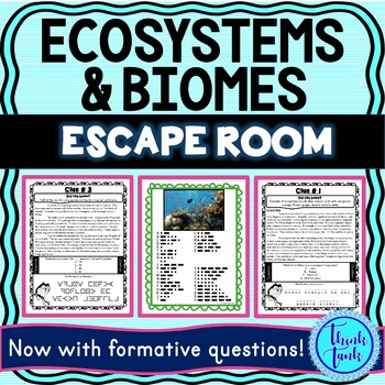 Ecosystems and Biomes ESCAPE ROOM example picture
