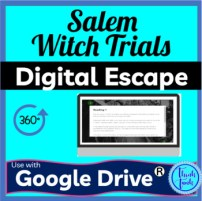 Salem Witch Trials DIGITAL ESCAPE ROOM for Google Drive picture