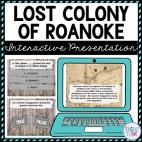 Lost Colony of Roanoke Interactive Google Slides picture