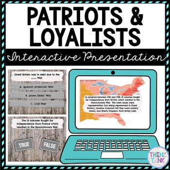 Patriots and Loyalists Interactive Google Slides picture