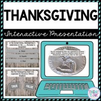 Thanksgiving Interactive Google Slides picture