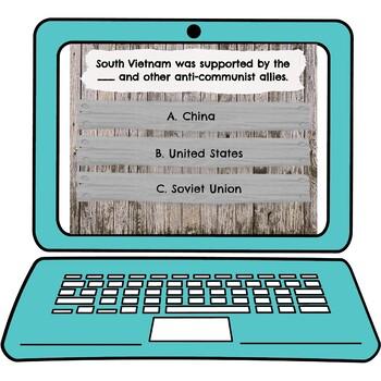 Vietnam War Interactive Google Slides picture