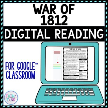 DIGITAL Reading Passages and Text Marking for Google Classroom picture
