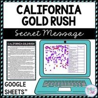 California Gold Rush Secret Message Activity for Google Sheets picture