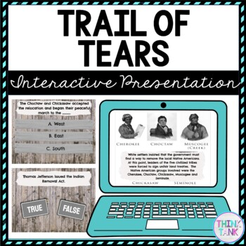 Trail of Tears Interactive Google Slides™ Presentation | Distance Learning picture