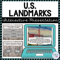 US Landmarks Interactive Google Slides™ Presentation picture