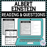 Albert Einstein DIGITAL Reading Passage and Questions - Self Grading