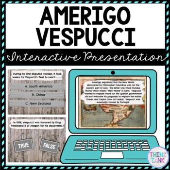 Amerigo Vespucci Interactive Google Slides™ Presentation   Distance Learning