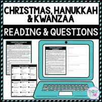 Christmas, Hanukkah & Kwanzaa DIGITAL Reading Passage & Questions - Self Grading