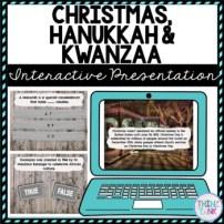Christmas, Hanukkah & Kwanzaa Interactive Google Slides™ Presentation