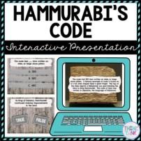 Hammurabi's Code Interactive Google Slides