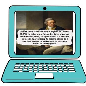 James Cook Interactive Google Slides™ Presentation Distance Learning
