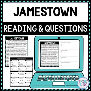 Jamestown DIGITAL Reading Passage and Questions - Self Grading