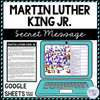 Martin Luther King Jr. Secret Message Activity for Google Sheets™