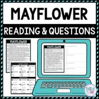 Mayflower DIGITAL Reading Passage and Questions - Self Grading