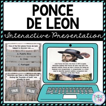 Ponce de Leon Interactive Google Slides™ Presentation   Distance Learning