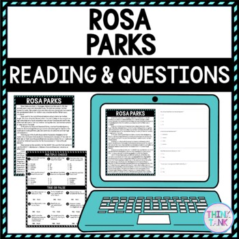 Rosa Parks DIGITAL Reading Passage and Questions - Self Grading