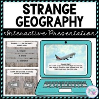 Strange Geography Interactive Google Slides™ Presentation | Distance Learning