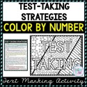 Test-Taking Strategies Color by Number, Reading Passage and Text Marking