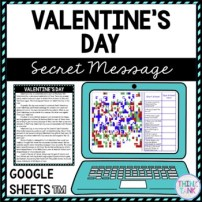 Valentine's Day Secret Message Activity for Google Sheets product picture