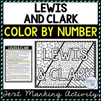 Lewis and Clark Coloring