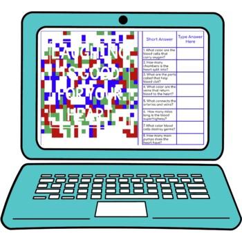 Circulatory System Secret Message Activity for Google Sheets™