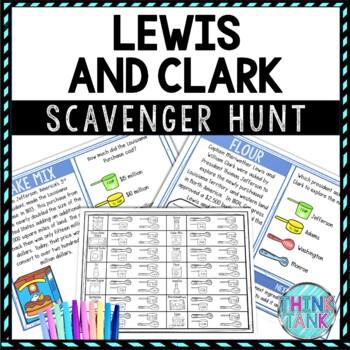 Lewis and Clark Activity - Scavenger Hunt Bake-Off Challenge - Gallery Walk