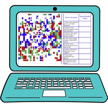 Planet Earth Secret Message Activity for Google Sheets™