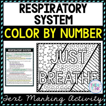 Respiratory System Color by Number, Reading Passage and Text Marking