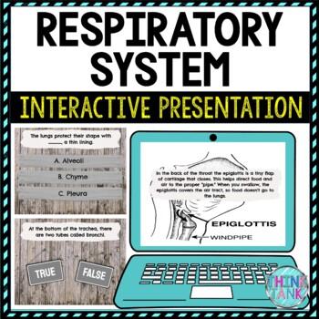 Respiratory System Interactive Google Slides™ Presentation | Digital