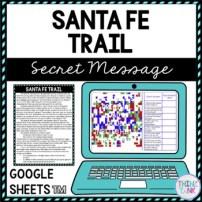 Santa Fe Trail Secret Message Activity for Google Sheets™ I Distance Learning