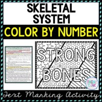 Skeletal system worksheet pic