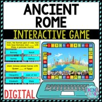 Ancient Rome Review Game Board | Digital | Google Slides | Ancient History