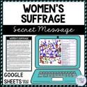 Women's Suffrage Secret Message Activity for Google Sheets™