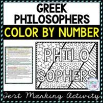 Greek Philosopher Activity Picture