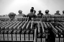 Women in the bottling factory