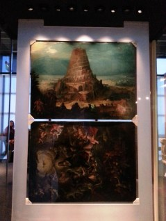 These paintings are behind these amazing maps etched on copper plates.. two of three surviving plates