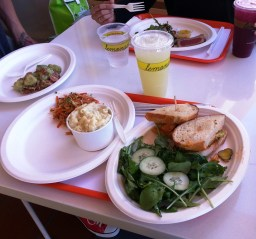 Lemonade - various salads and chicken sandwich