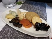 VA Upper Class Flight - cheese & crackers