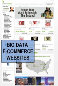 Big Data Websites high volume mega store websites.